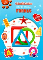 Libro de stickers-Formas (Pasitos)